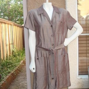 Emanuel Ungaro raw silk office dress